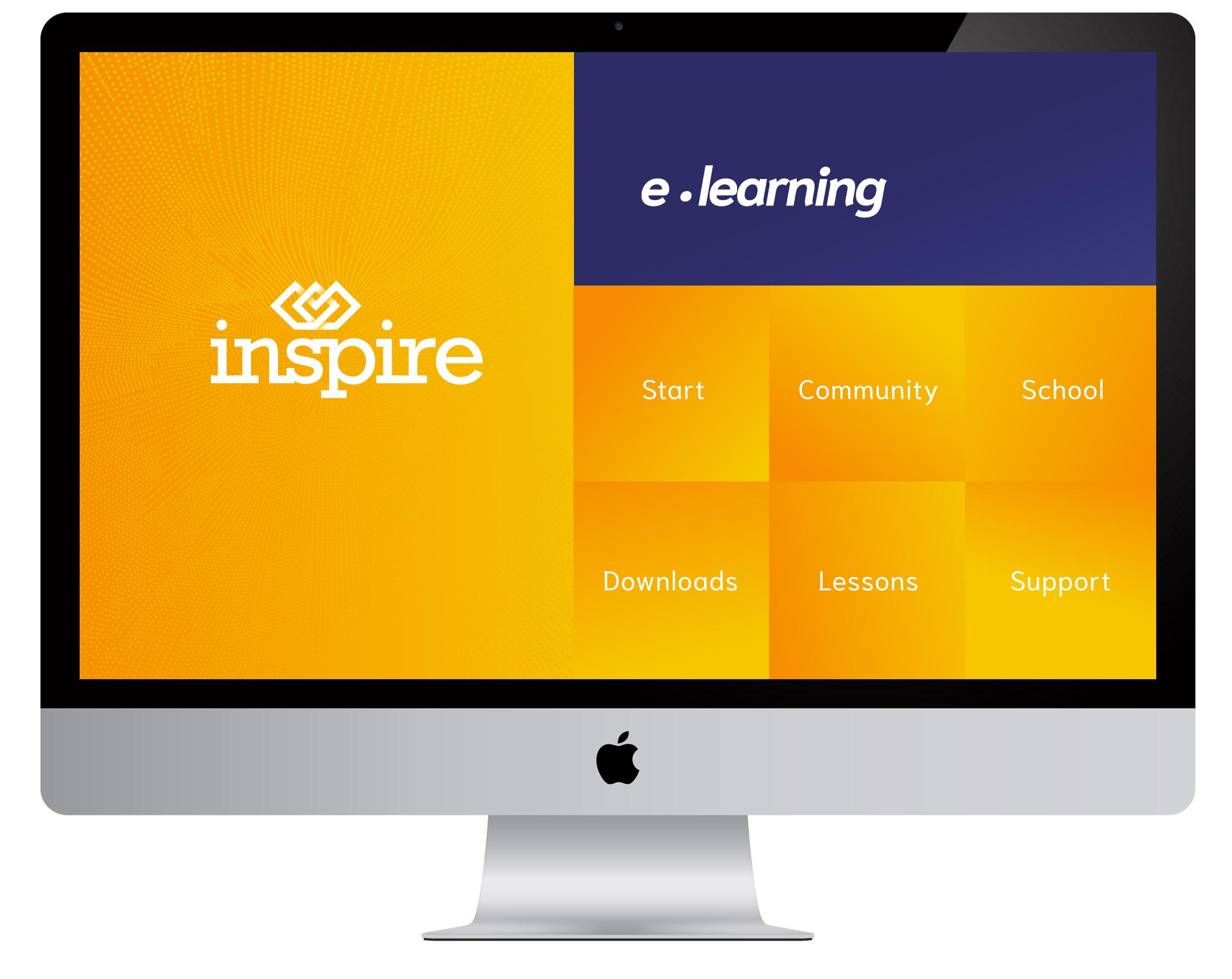 E-learning-op-scherm